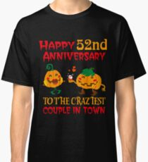 52nd Wedding Anniversary T-Shirt For Couples On Halloween. Classic T-Shirt