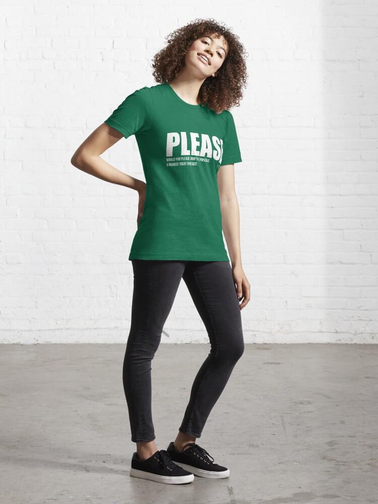 Alternate view of PLEASE tee + hoodie Essential T-Shirt