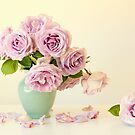 Pastel Roses by Colleen Farrell