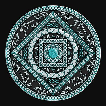 Aquarius Mandala by ValerieDesigns