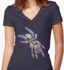 Togo Starburst Baboon Tarantula  Women's Fitted V-Neck T-Shirt
