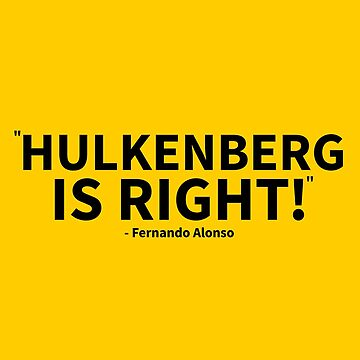 Hulkenberg was right! by msportbanter
