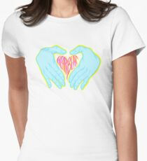 Heartbeat Electric Hands Women's Fitted T-Shirt