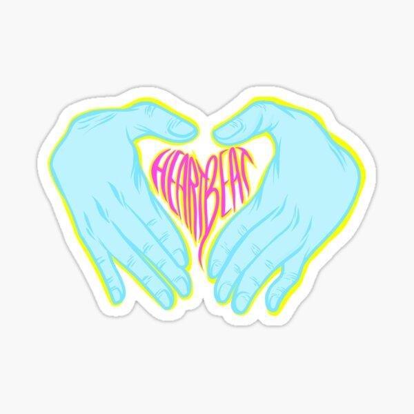 Heartbeat Electric Hands Sticker