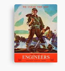 Engineers Clear the Way! Canvas Print