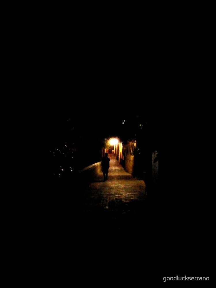 after dark walking silhouette  by goodluckserrano