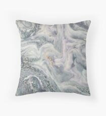 Classic grey marble rock look marbling Throw Pillow