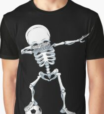 Dabbing Skeleton Soccer T-Shirt Halloween Dab Skull Gifts Graphic T-Shirt
