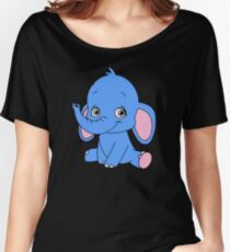 Cute Elephant Cub Women's Relaxed Fit T-Shirt