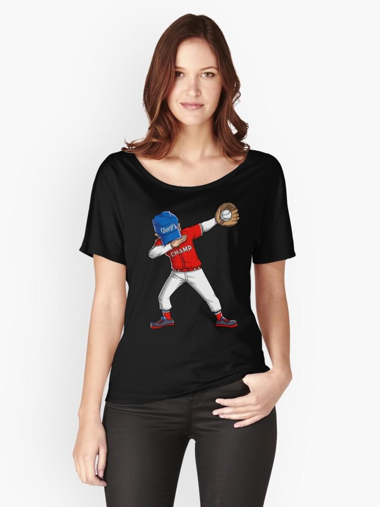 Camisetas anchas para mujer «Camiseta de béisbol Dabbing Camiseta de ...