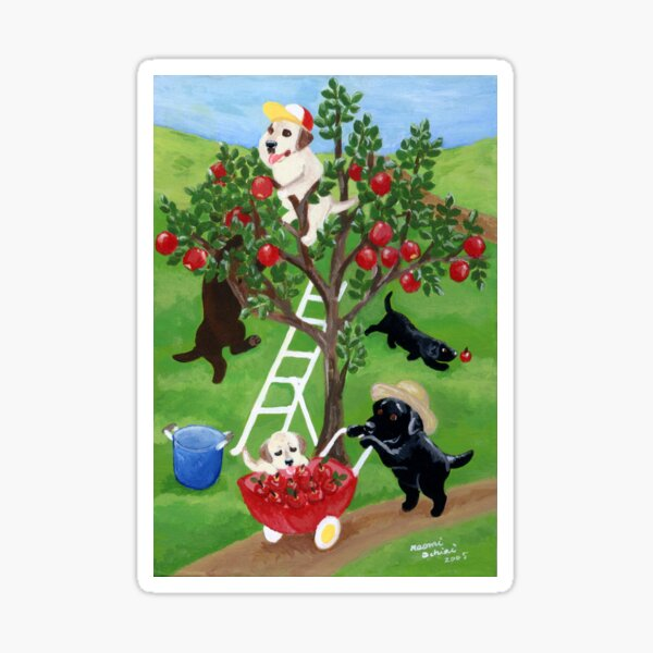 Apple Tree Labradors Sticker