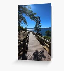 Lake Tahoe - Sand Harbor Walkway 03 Greeting Card