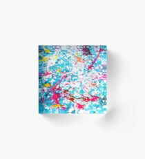 dip your toes — modern art » abstract paint art Acrylic Block