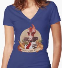 Had to be me Women's Fitted V-Neck T-Shirt