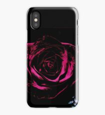 Rose on Black iPhone Case/Skin