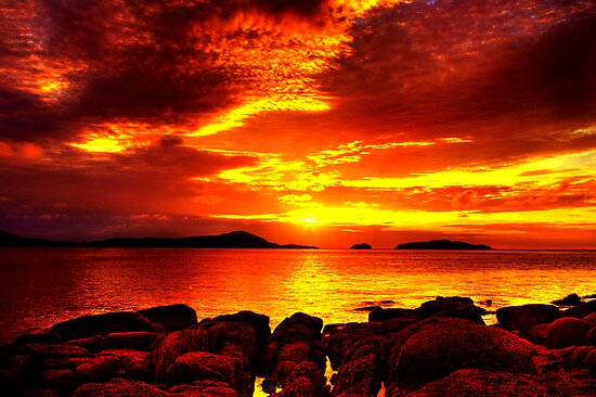 Bunbeg Fiery Sunset by doublevision