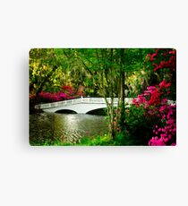 The Bridge in Spring Canvas Print