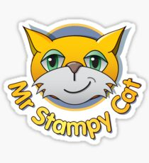 Stampy cat stickers redbubble stampy cat youtube merchandise sticker altavistaventures Image collections