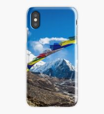 Prayers Flags over Dingboche iPhone Case/Skin
