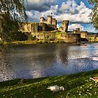 Late Afternoon At Caerphilly Castle by IanWL