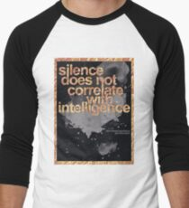 Don't Breed Ignorance (Deaf Advocacy) Men's Baseball ¾ T-Shirt