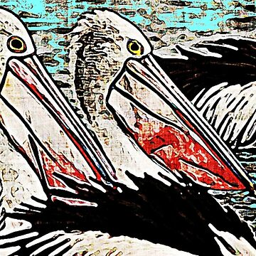 Pelicans In The Bay by GypseaDesigns