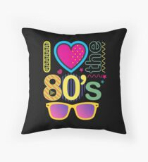 I Love The 80s Throw Pillow