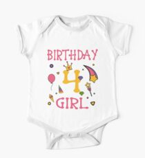 Birthday 4 year old Girl Gift Kids Clothes