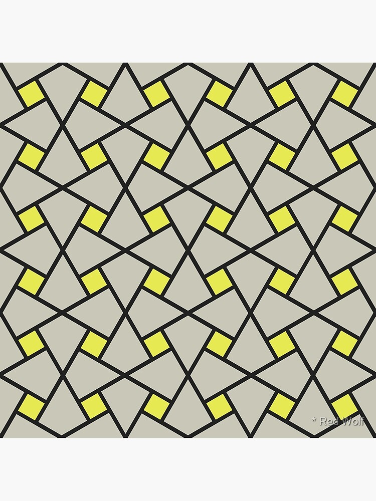 Geometric Pattern: Square Twist: Grey by redwolfoz