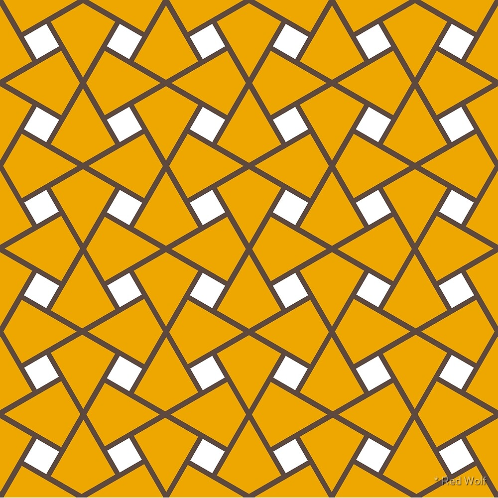 Geometric Pattern: Square Twist: Yellow by * Red Wolf