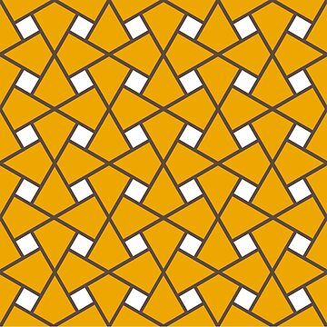 Geometric Pattern: Square Twist: Yellow by redwolfoz