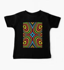 Colourful hearts on black  Kids Clothes