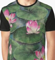 Water Lilly Flower Swamp Graphic T-Shirt