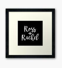 Ross and Rachel | Friends | Cult tv Framed Print