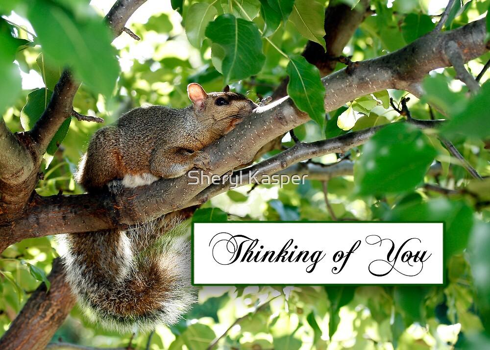 Thinking of You Squirrel by Sheryl Kasper