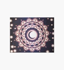 Sun Moon & Stars Glowing Mandala Art Board