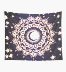 Tela decorativa Sol Luna y estrellas brillando Mandala