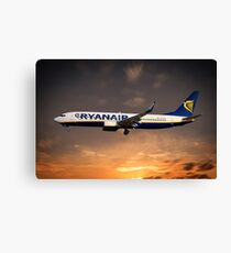 Ryanair Boeing 737  Canvas Print