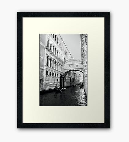 The Bridge Of Sighs - Venice Framed Print