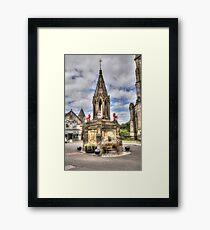 Outlander location - the Bruce Fountain , Falkland Framed Print