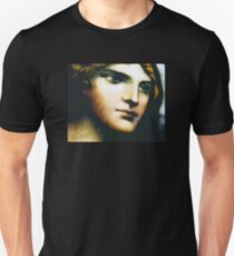 Angel - Stained Glass - Companion Portrait Unisex T-Shirt