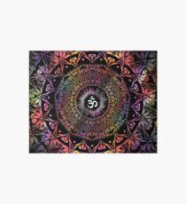 Dark Radiant Om Mandala Art Board