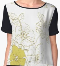 floral spring gold-yellow pattern Chiffon Top