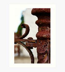 Rusted Iron Art Print