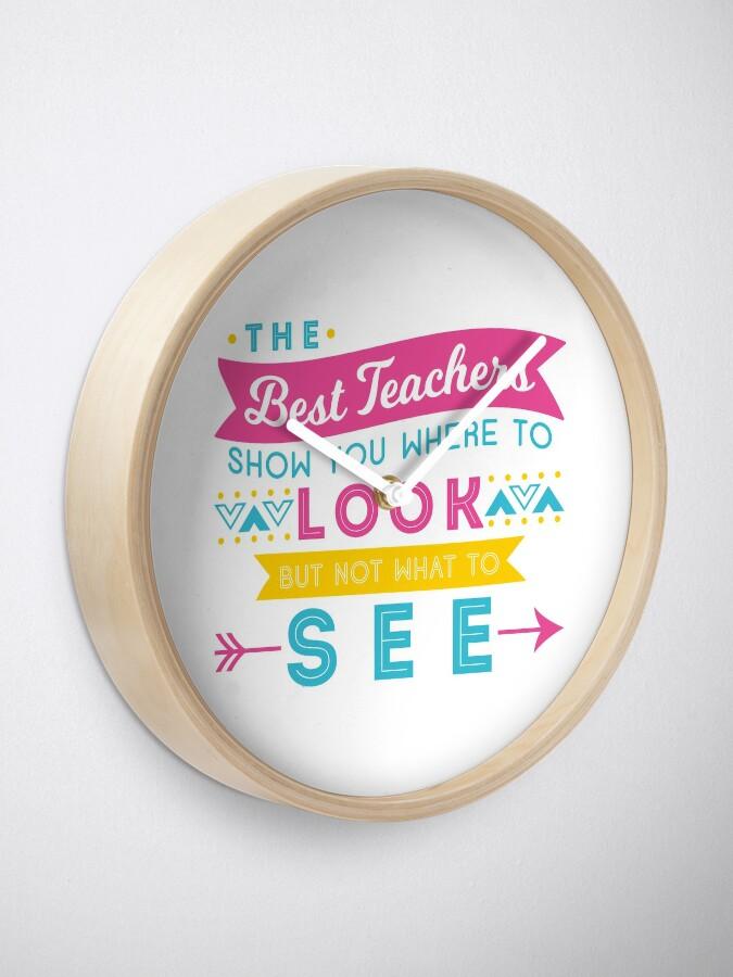 Alternate view of The Best Teachers... Clock