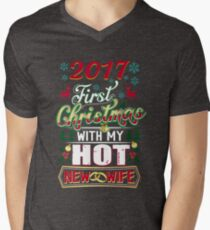 First Christmas With Hot New Wife 2017 Married Couple T-Shirt