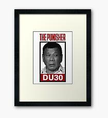 DU30, Duterte, The Punisher Framed Print