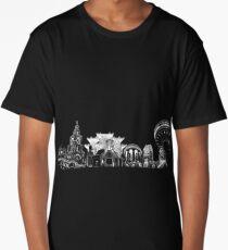 Liverpool Landmarks Montage White Print Long T-Shirt