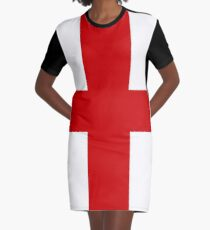 Flag Of England George Cross Graphic T-Shirt Dress