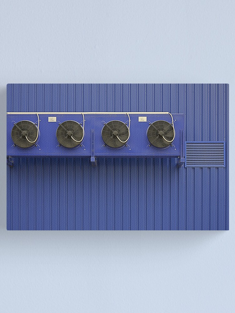 Alternate view of Blue Vents Canvas Print